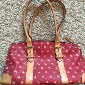 Dooney and Bourke Red Monogram Purse and Wallet
